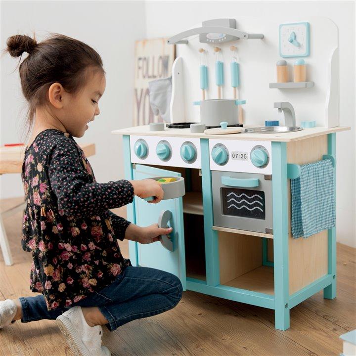 Детска дървена кухня в синьо-лукс-дървена играчка(1)-bellamie