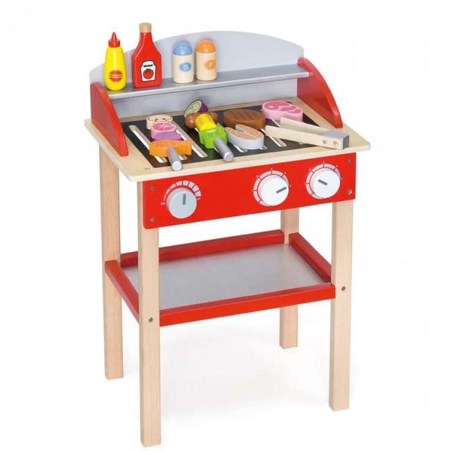 Дървено барбекю-аксесоар за детска дървена кухня-дървена играчка-bellamie