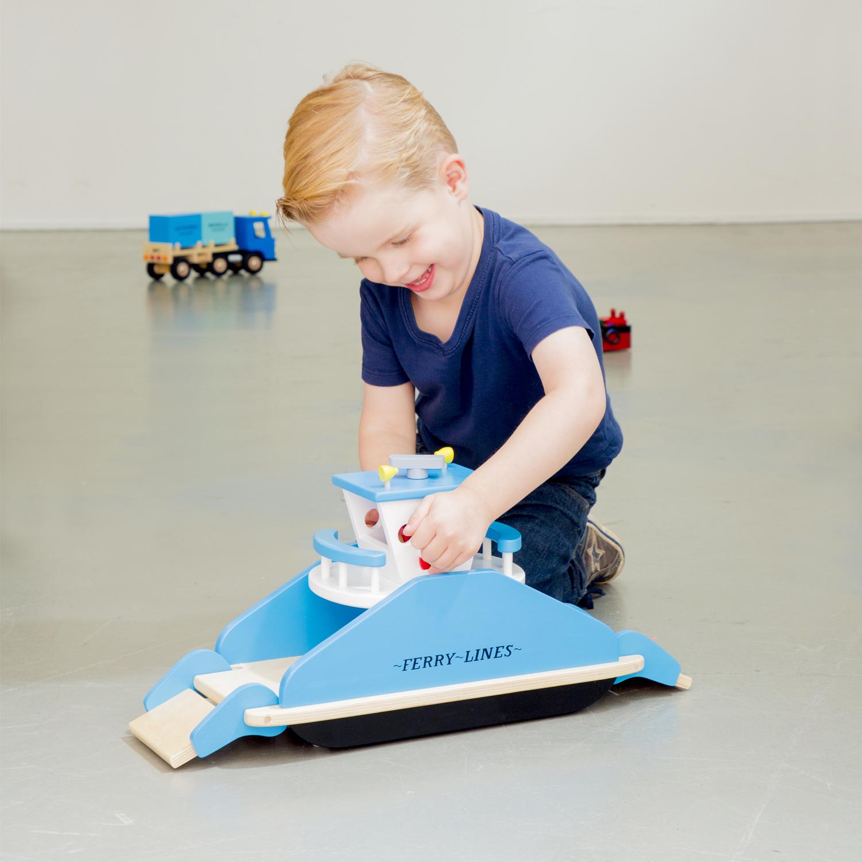 Детски играчки за момчета- дървен ферибот(3)-bellamie