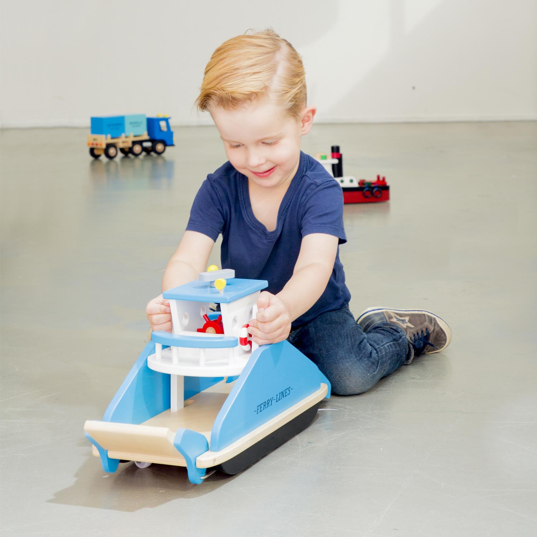 Детски играчки за момчета- дървен ферибот(2)-bellamie