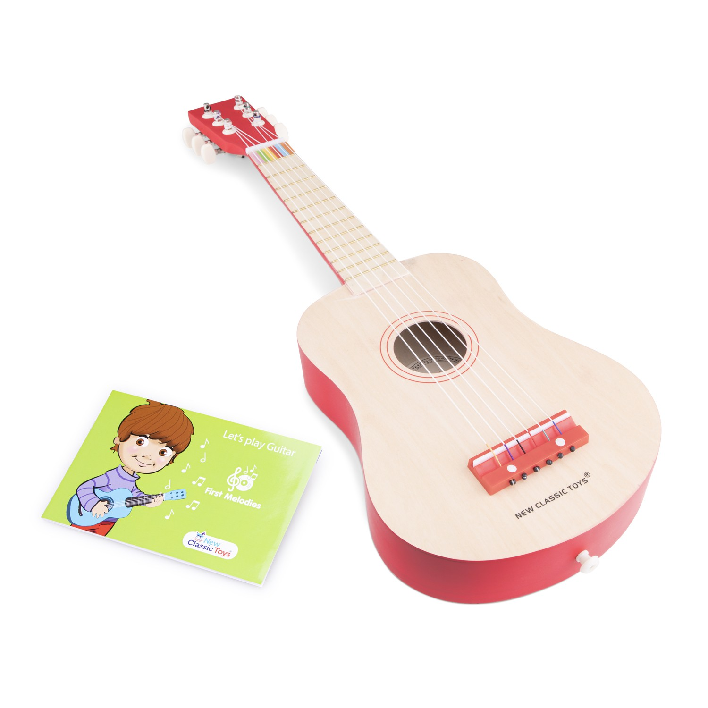 детска червена китара -Детски музикални инструменти-bellamiestore