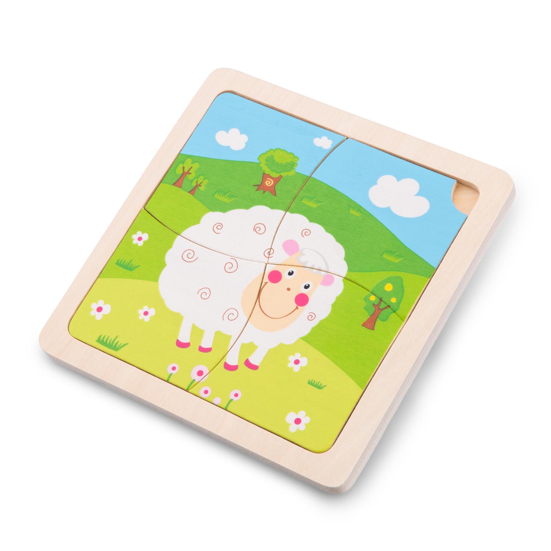 Детски дървен пъзел - Овчица - Беллами