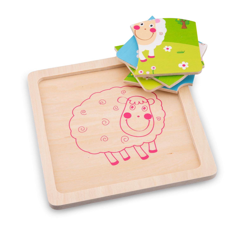 Детски дървен пъзел – Овчица