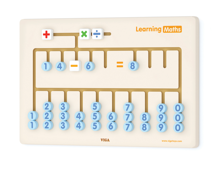 """Образователна игра за стена """"Да научим лено математиката"""" от Viga Toys-Bellamie"""