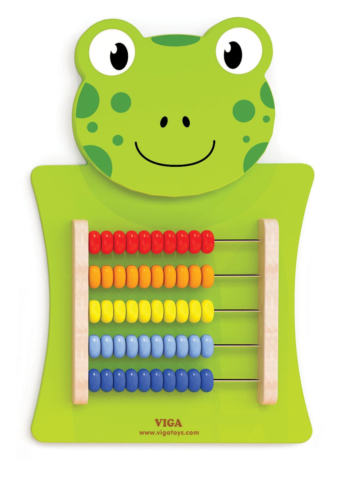 Образователни играчки за стена - Жаба със сметало-Bellamie