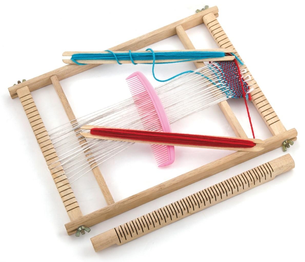 Детски дървен тъкачен стан-образователни играчки-Bellamie