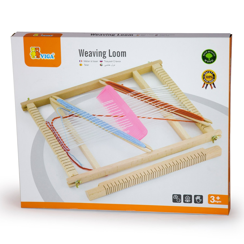 Детски дървен тъкачен стан-образователни играчки(2)