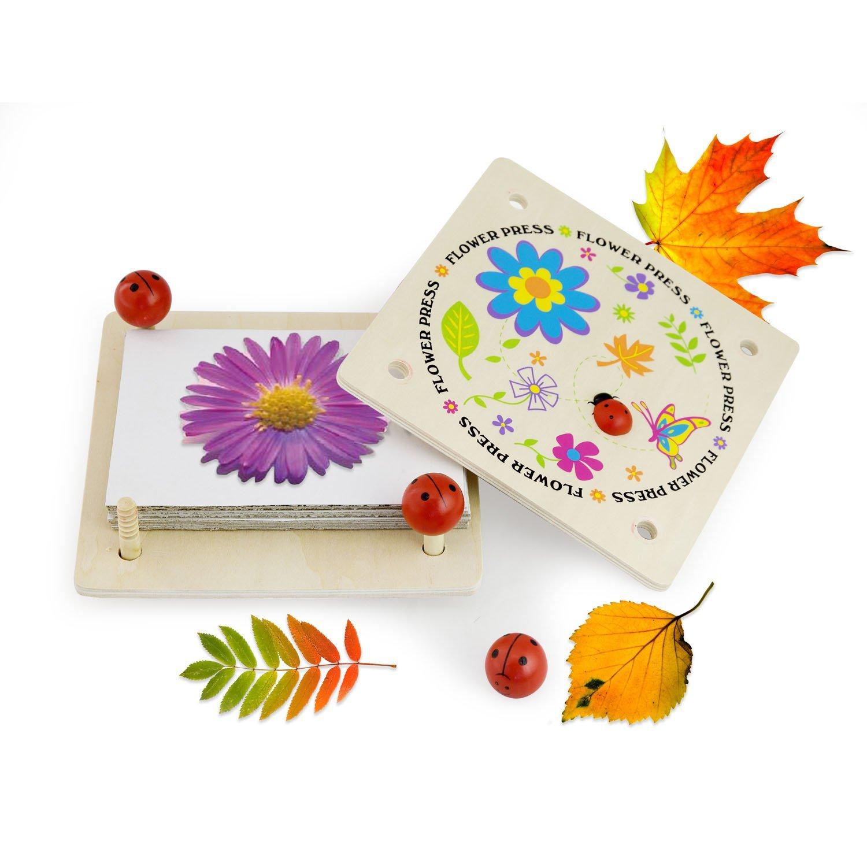 Дървена преса за цветя-образователни играчки-Bellamie