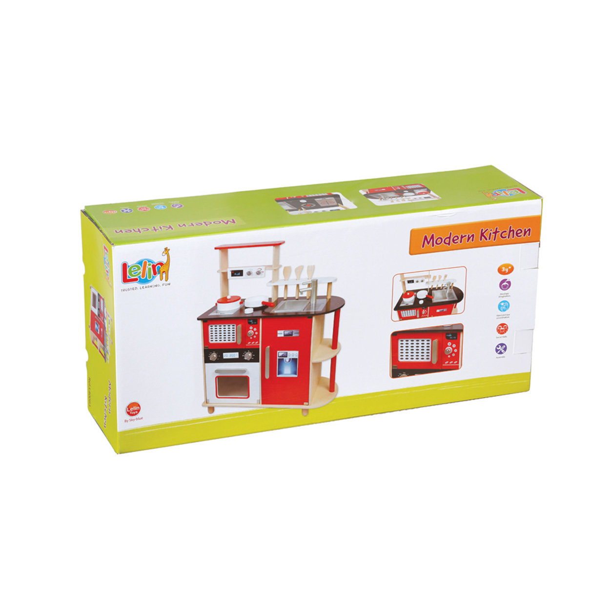Модерна детска дървена кухня