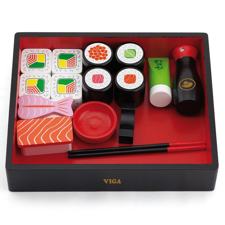 Детски дървен комплект - суши- Детска дървена кухня- Беллами