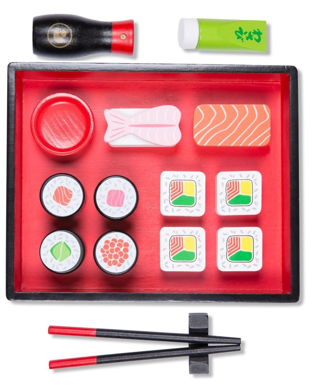 Детски дървен комплект - суши- Детска дървена кухня - Беллами