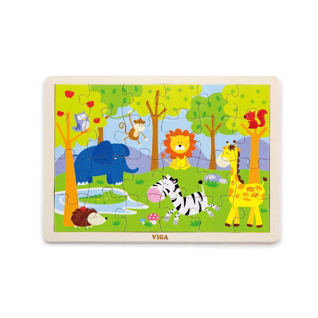 Детски дървен пъзел Сафари-Viga toys