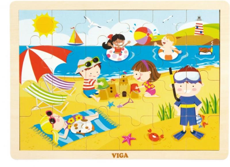 Детски дървен пъзел - Лято - Viga toys- Bellamie