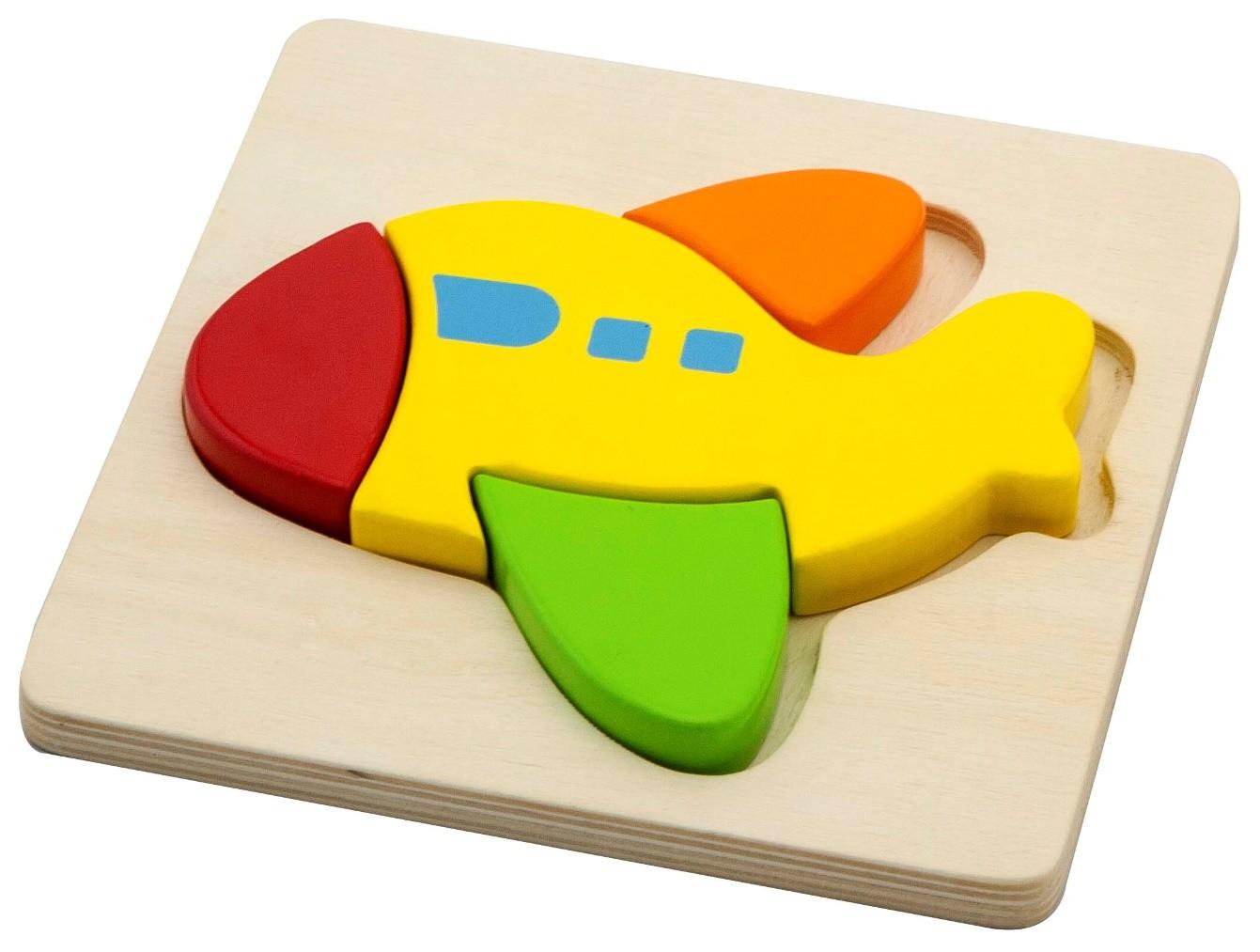 Детски дървен пъзел Самолет- Viga toys-Bellamie