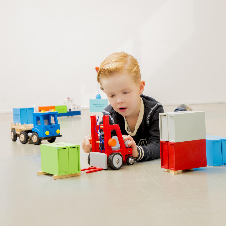 Дървен детски мотокар-детски дървени играчки за момчета(2)-bellamie