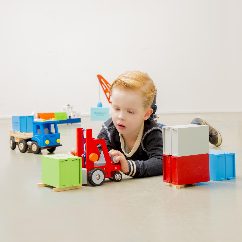 Дървен детски мотокар-детски дървени играчки за момчета(3)-bellamie