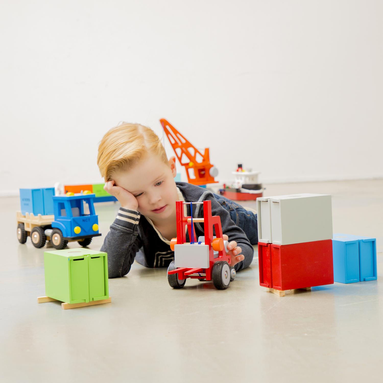Дървен детски мотокар-детски дървени играчки за момчета(4)-bellamie