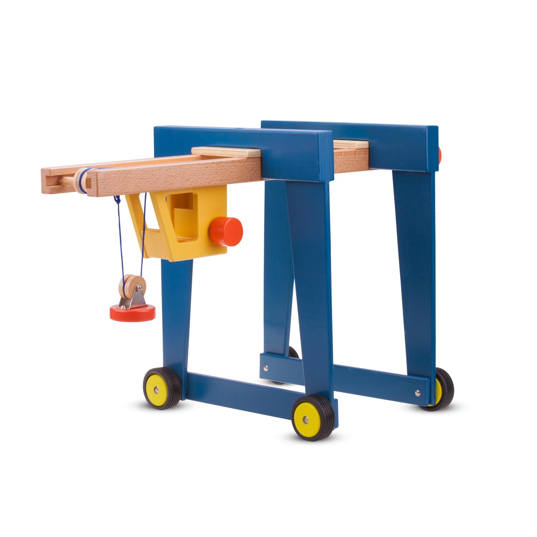 Детски играчки за момчета -Детски дървен кран на колела от New Classic Toys-bellamie
