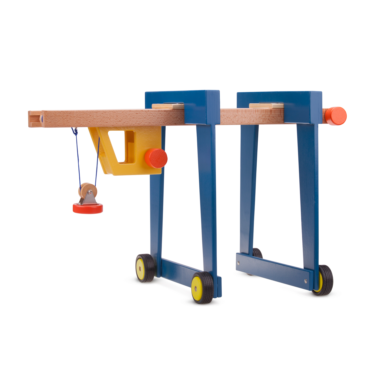 Детски играчки за момчета -Детски дървен кран на колела от New Classic Toys (1)-bellamie