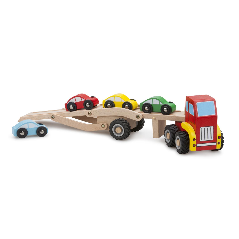 Детски играчки за момчета - Камион автовоз с четири коли(1)-bellamie