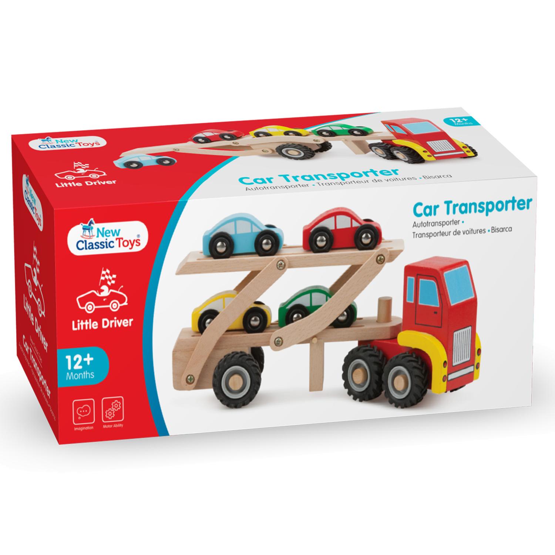 Детски играчки за момчета - Камион автовоз с четири коли(3)-bellamie