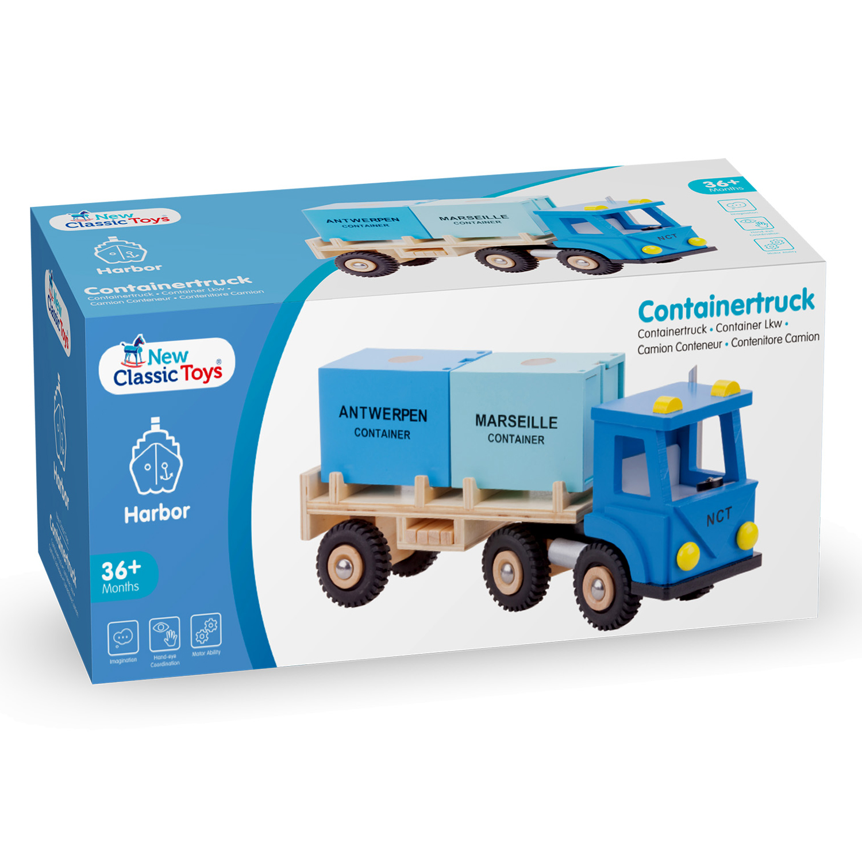 Товарен камион с два контейнера-детски играчки за момчета(3)-bellamie