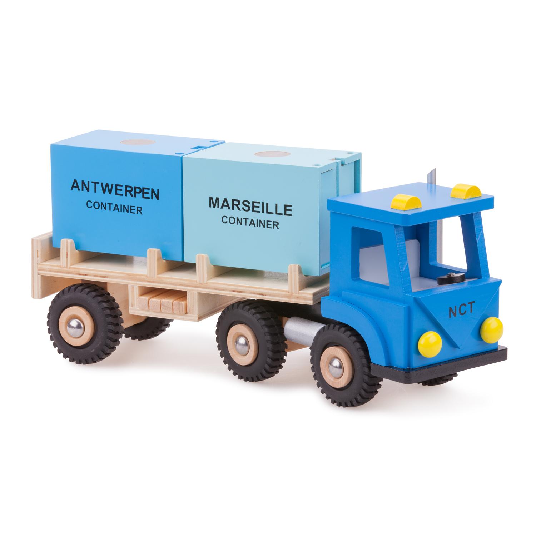 Товарен камион с два контейнера-детски играчки за момчета-bellamie