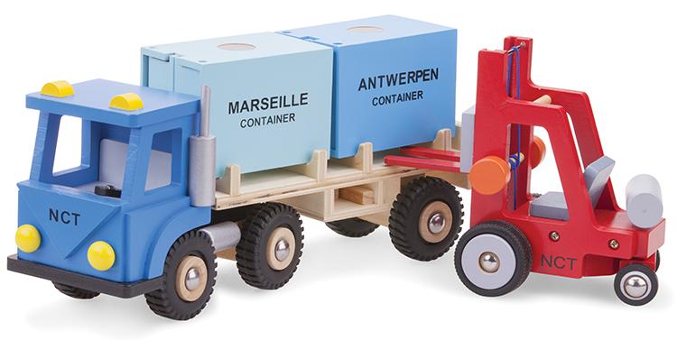 Товарен камион с два контейнера-детски играчки за момчета(1)-bellamie
