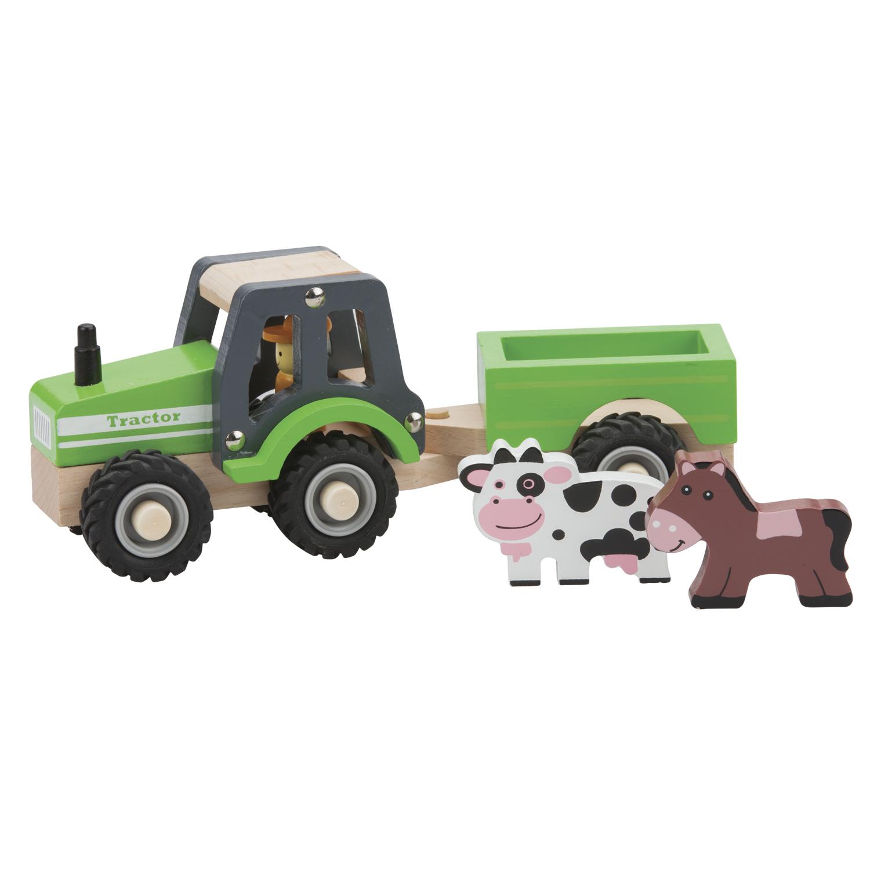 Детски играчки за момчета- Трактор с ремарке и животните от фермата- bellamie