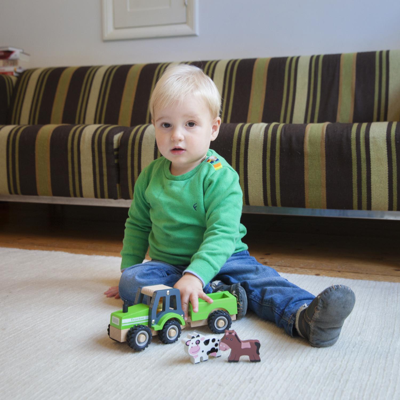 Детски играчки за момчета- Трактор с ремарке и животните от фермата(2)-bellamie