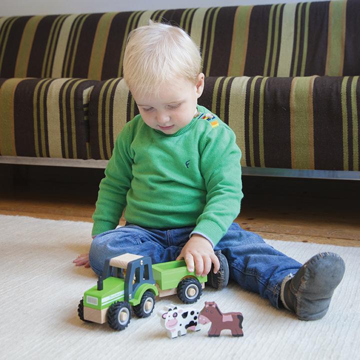 Детски играчки за момчета- Трактор с ремарке и животните от фермата(3)-bellamie