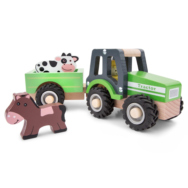 Детски играчки за момчета- Трактор с ремарке и животните от фермата(1)-bellamie