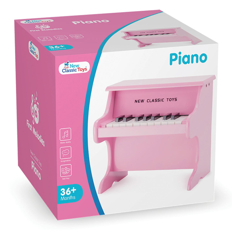 Детско дървено пиано- Детски музикален инструмент-Беллами