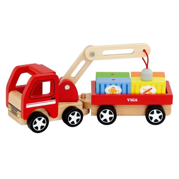 Детски товарен камион с контейнери от Viga toys -детски играчки за момчета