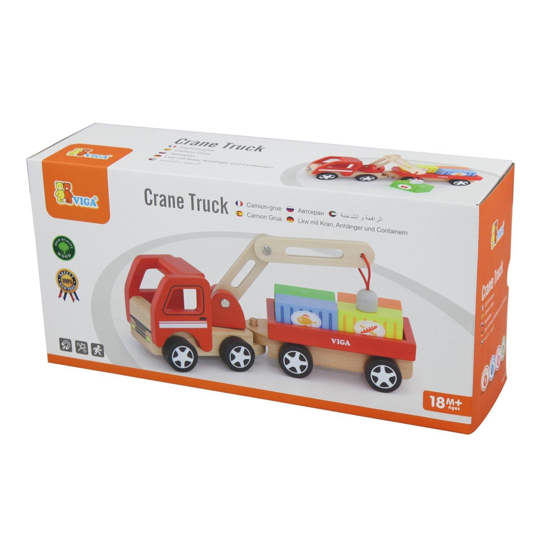 Детски товарен камион с контейнери от Viga toys -детски играчки за момчета-Bellami