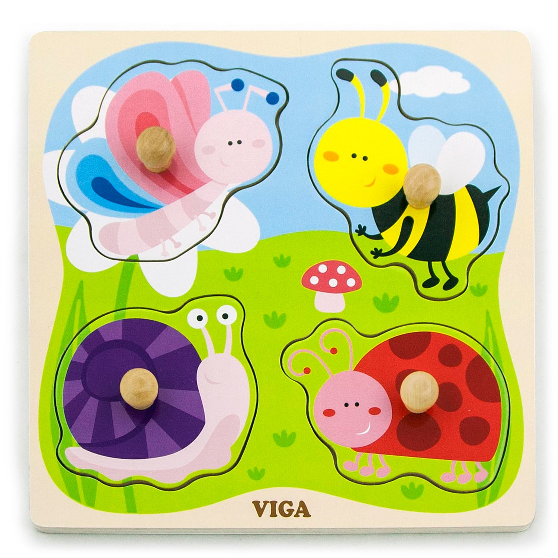 Детския пъзел – Малките насекоми-Дървени играчки-Viga- Bellaie