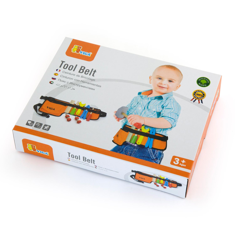 Комплект колан с детски инструменти - 10 бр- Детски дървени играчки - Беллами