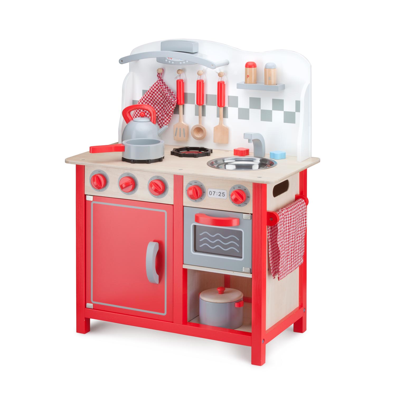 детска дървена кухня в червено-лукс-дървена играчка(1)-bellamie