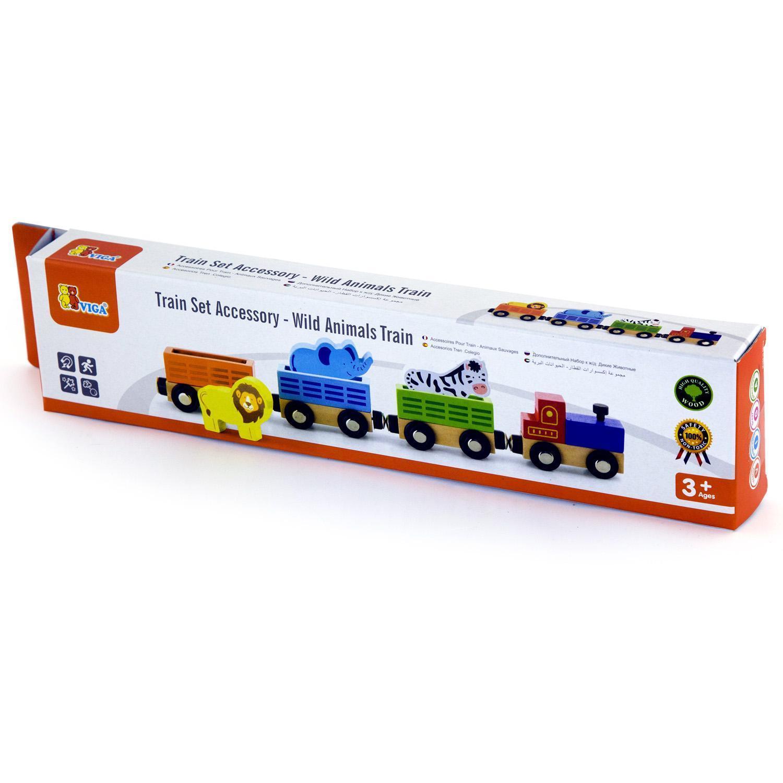 детски дървен влак - дивите животни-дървена играчка(2)-bellamie