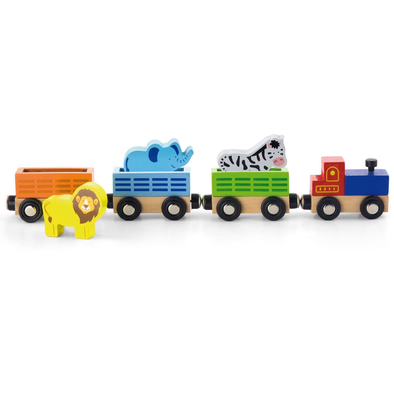 детски дървен влак - дивите животни-дървена играчка(1)-bellamie