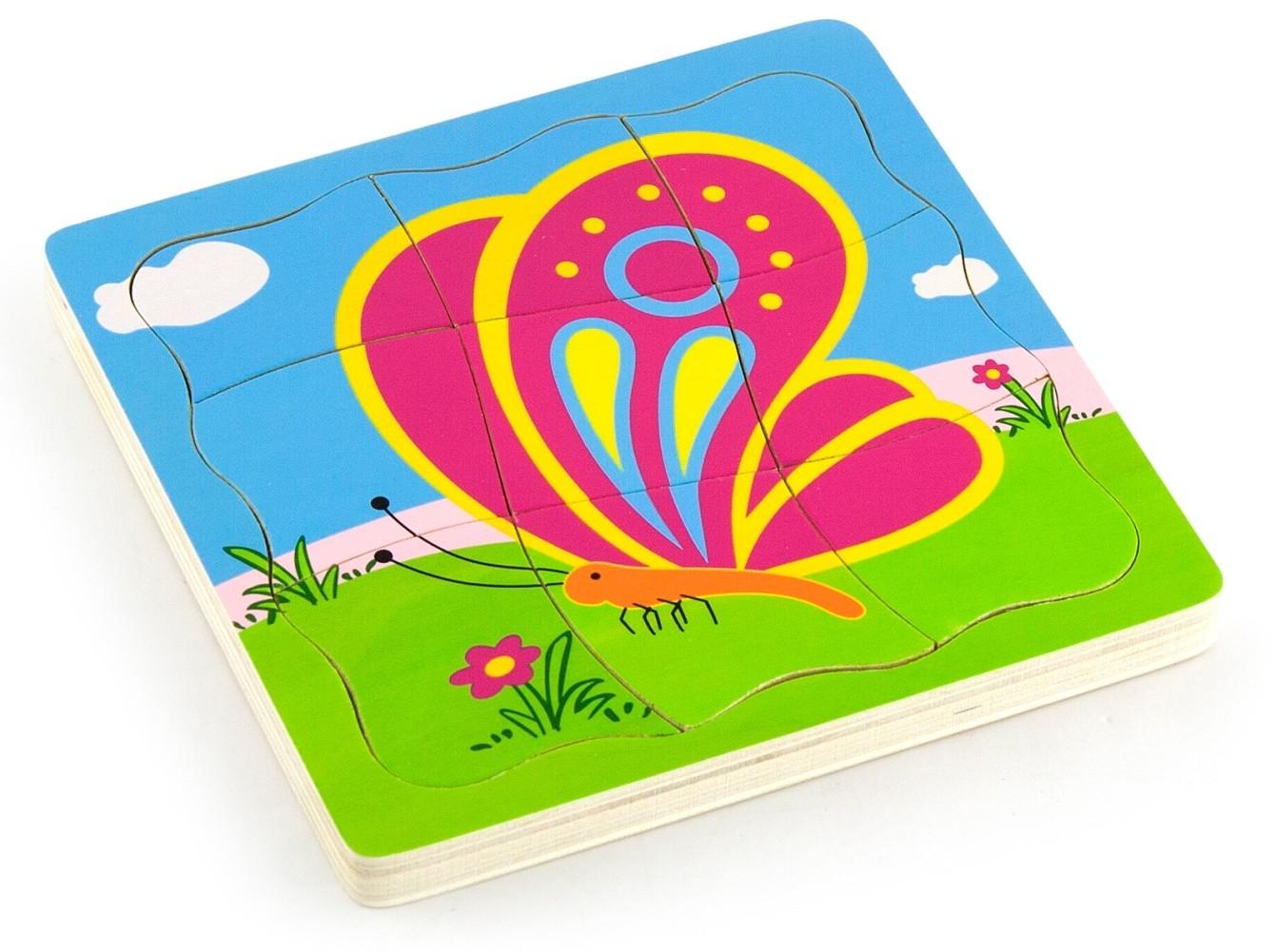 детски растящ пъзел - Пеперуда- дървени играчки-bellamie