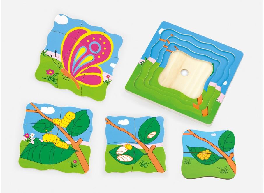 детски растящ пъзел - Пеперуда- дървени играчки(1)-bellamie