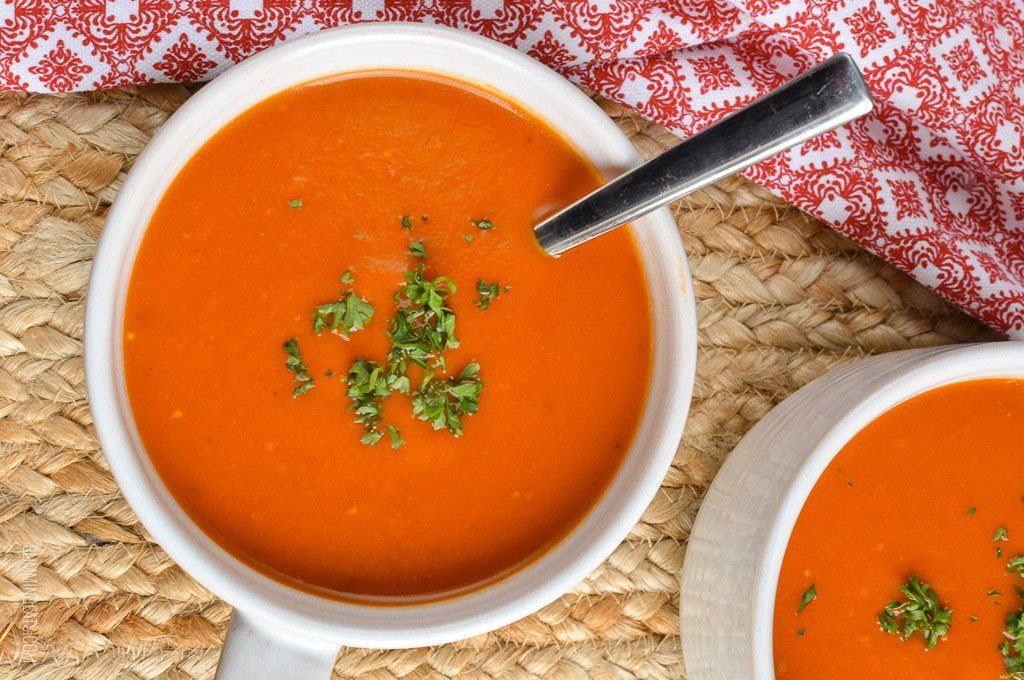 Доматената крем супа с паста на Баба !