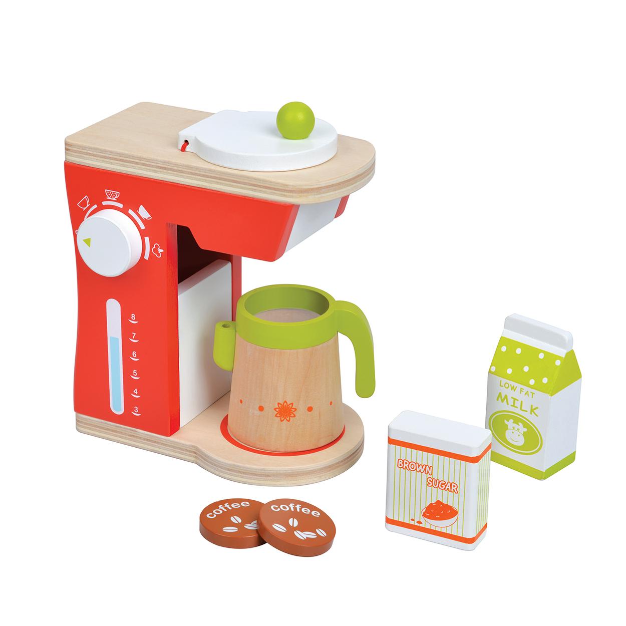 дървена играчка-кафе машина-аксесоар за детска дървена кухня-bellamie
