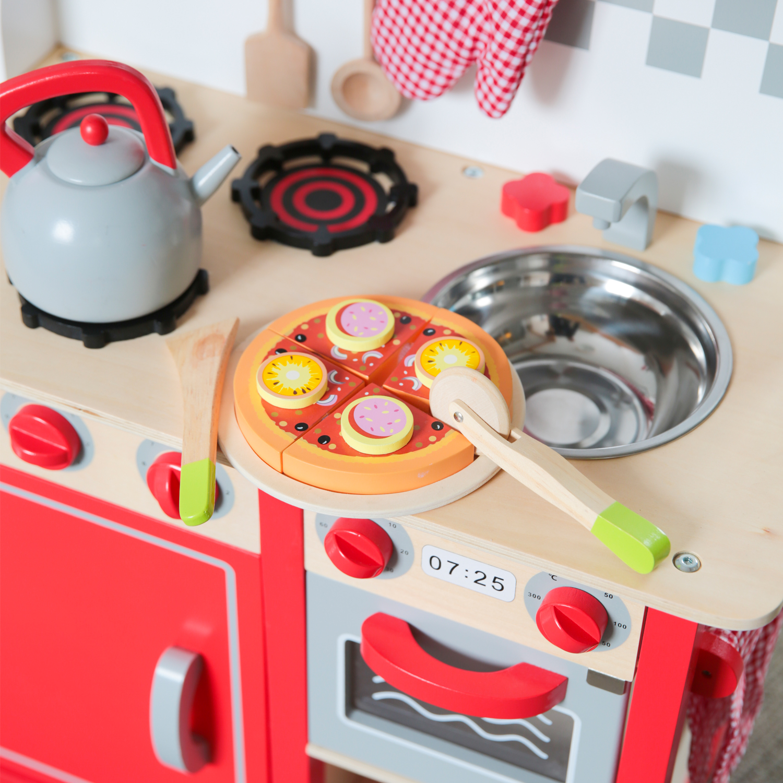дървена пица за рязане-аксесоар за детска дървена кухня-дървена играчка(2)-bellamie