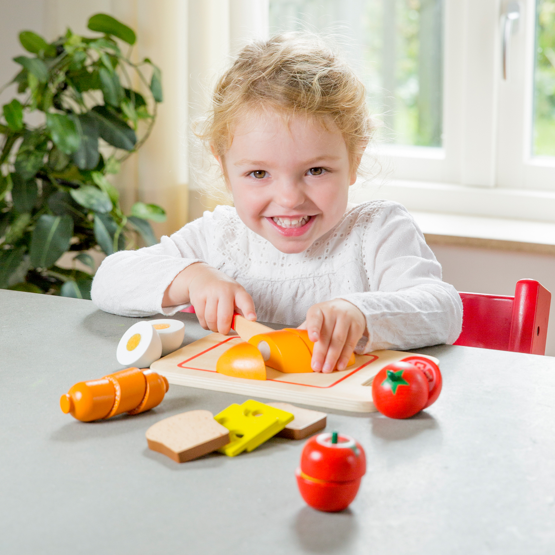 дървена играчка-дъска с продукти за рязане- Закуска(3)-bellamie
