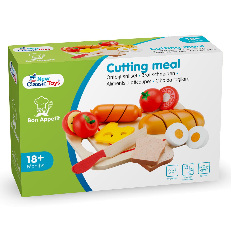 дървена играчка-дъска с продукти за рязане- Закуска(5)-bellamie