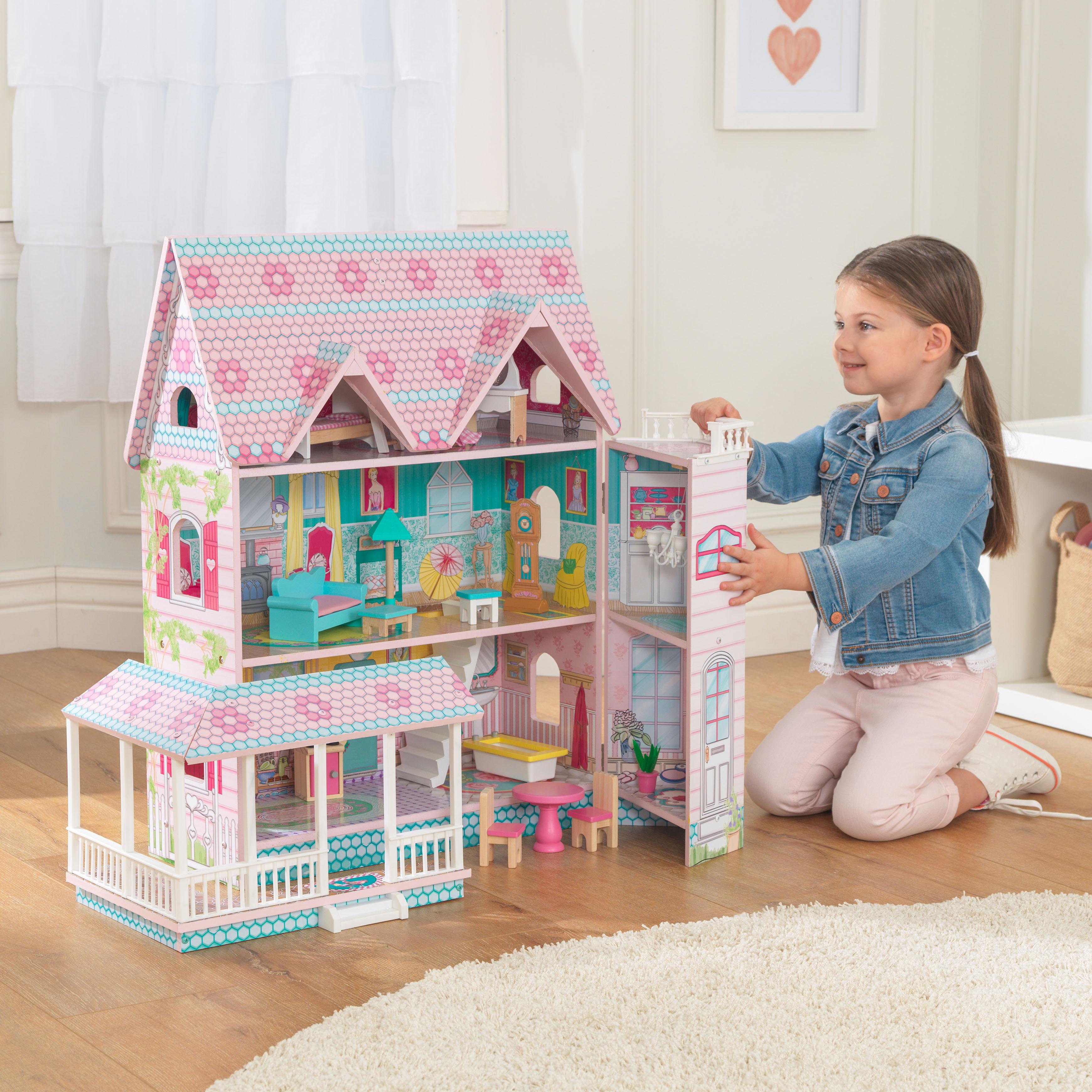 Детска дървена къща за кукли - Анабел от Kidkraft(7)-bellamie