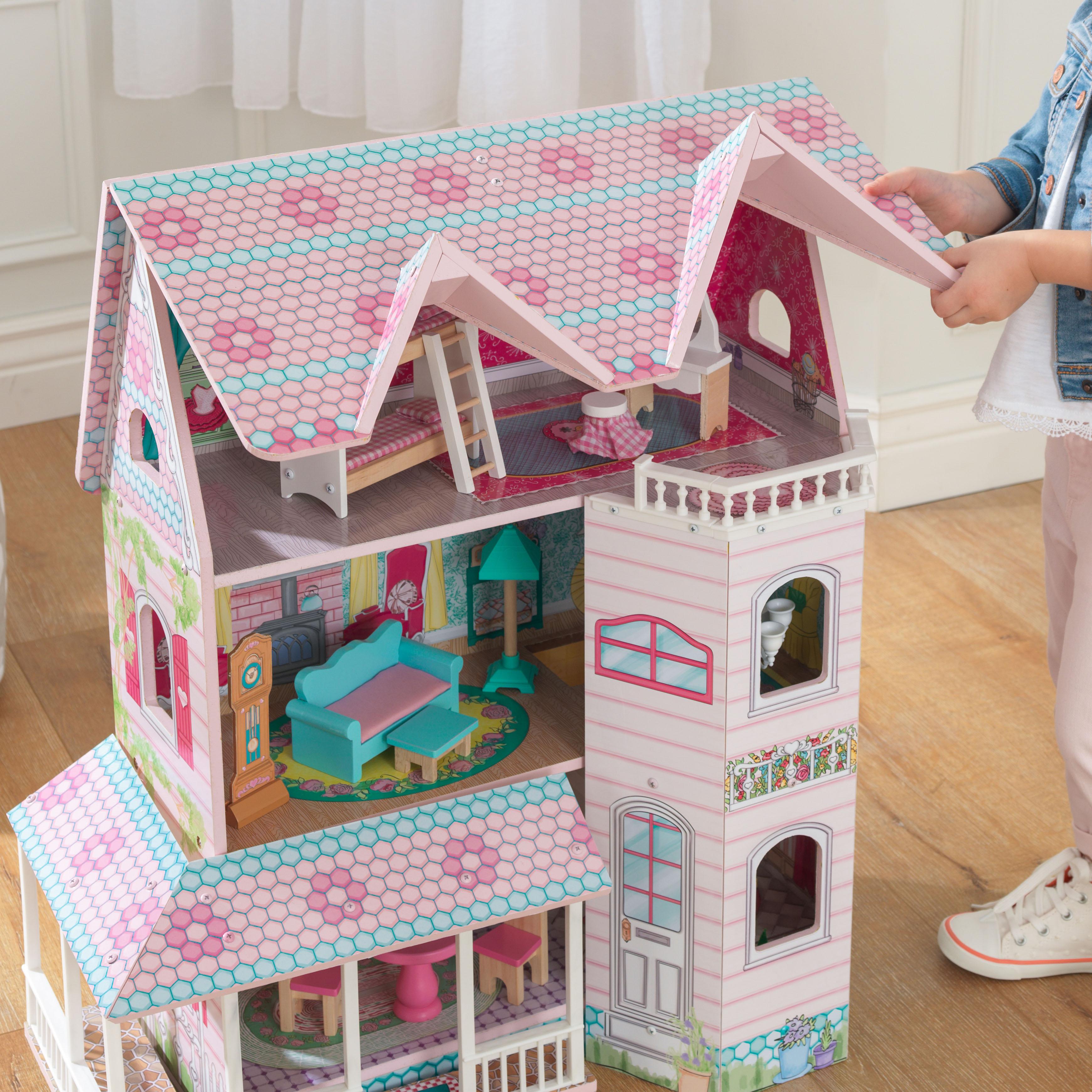 Детска дървена къща за кукли - Анабел от Kidkraft(4)-bellamie