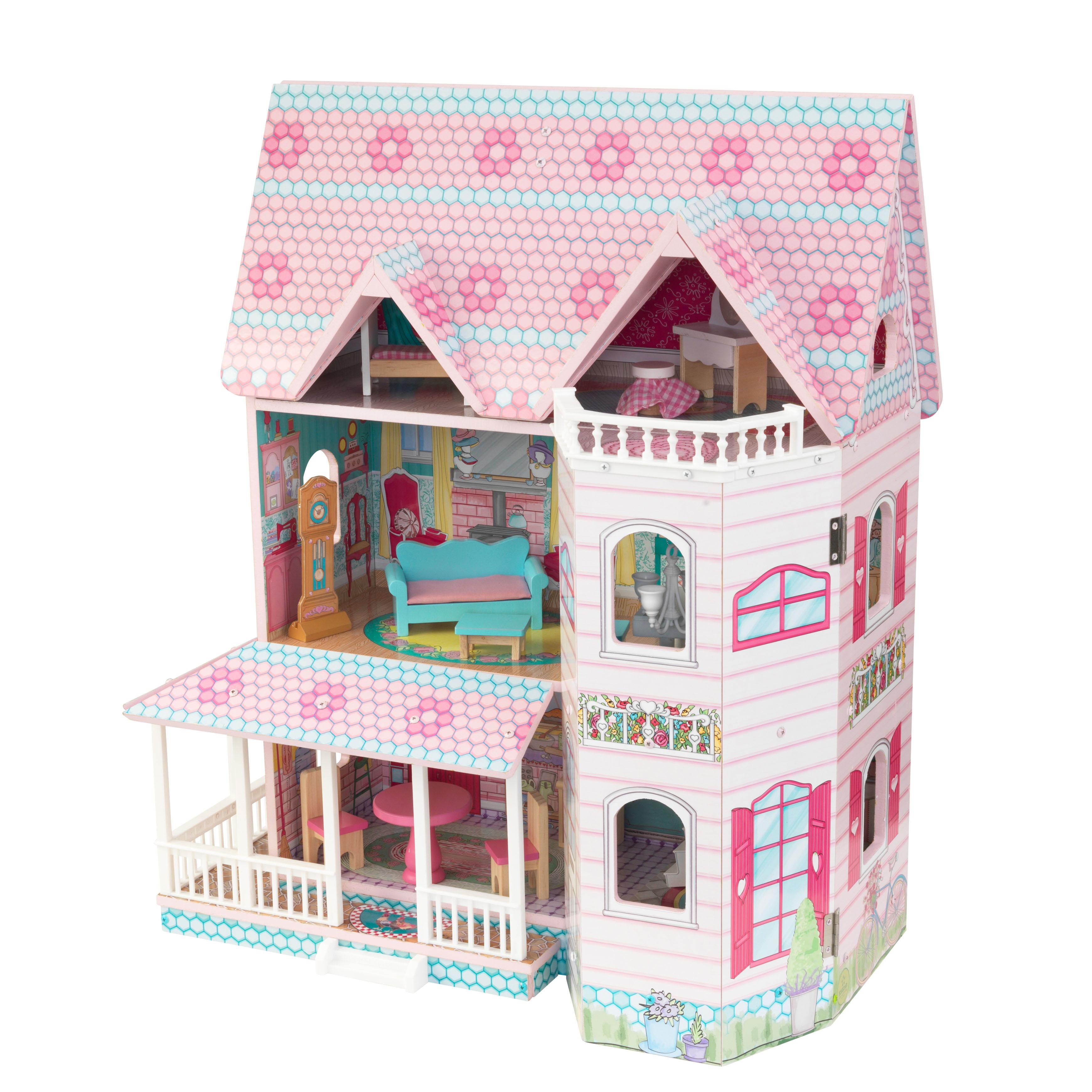 Детска дървена къща за кукли - Анабел от Kidkraft(6)-bellamie
